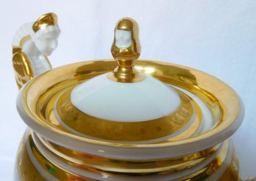 Antiquités - Neppel manufacture - Paris - Empire porcelain coffee set