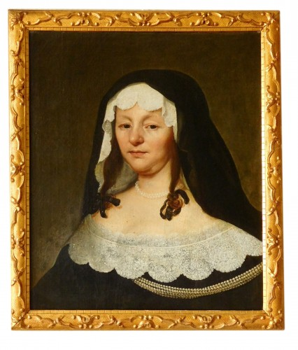 Portrait of a lady of Bruges - 17th Century flemish school