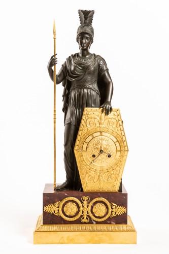 Spectacular late Empire Pallas Athéna ormolu & marble by Gérard-Jean Galle (1788-1846)  - Clocks Style