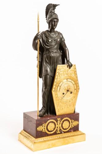 Clocks  - Spectacular late Empire Pallas Athéna ormolu & marble by Gérard-Jean Galle (1788-1846)