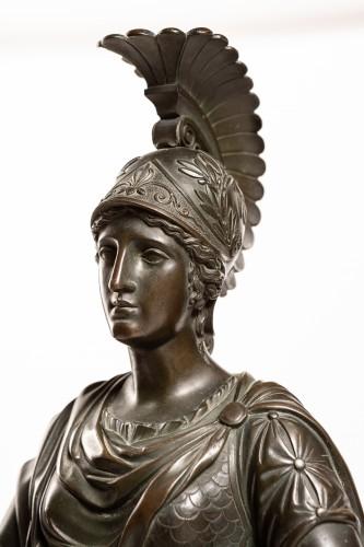 - Spectacular late Empire Pallas Athéna ormolu & marble by Gérard-Jean Galle (1788-1846)