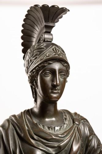 Antiquités - Spectacular late Empire Pallas Athéna ormolu & marble by Gérard-Jean Galle (1788-1846)