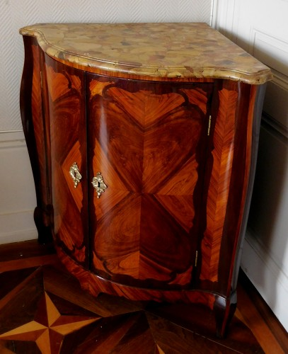 Furniture  - Louis XV Corner Cupboard by Nicolas Petit