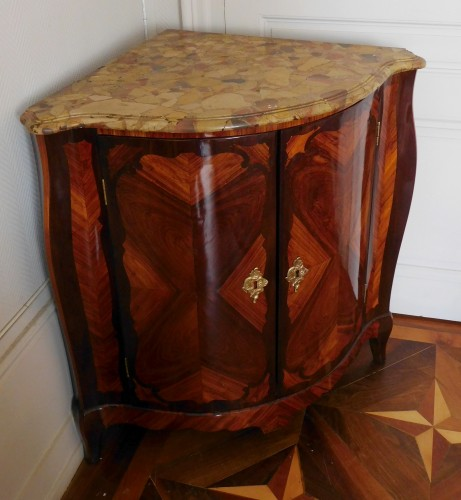 Louis XV Corner Cupboard by Nicolas Petit -