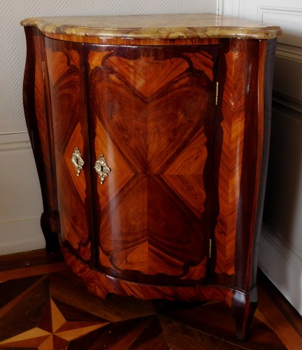 18th century - Louis XV Corner Cupboard by Nicolas Petit