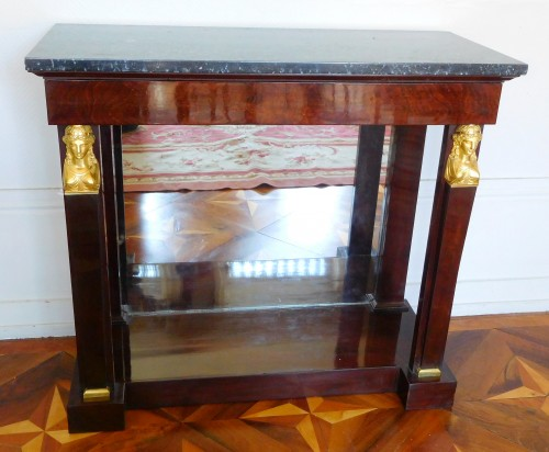 Empire - Pair of mahogany consoles