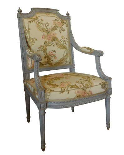 Louis XVI armchair - Stamped Of Marc Gautron