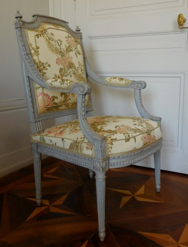 Louis XVI armchair - Stamped Of Marc Gautron - Seating Style Louis XVI