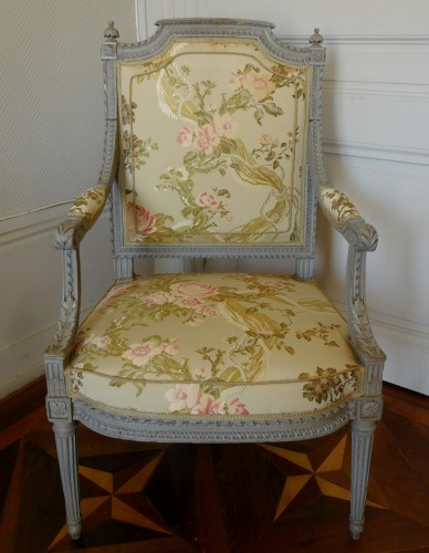 Seating  - Louis XVI armchair - Stamped Of Marc Gautron