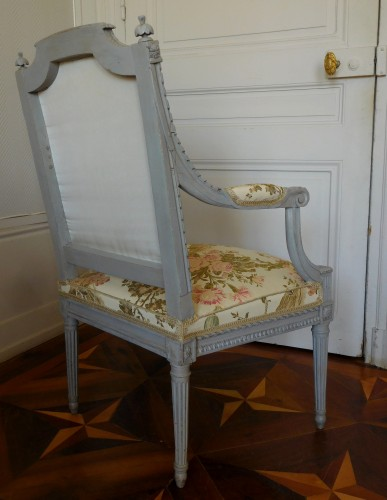 Louis XVI armchair - Stamped Of Marc Gautron -