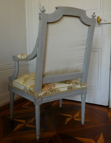 18th century - Louis XVI armchair - Stamped Of Marc Gautron