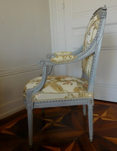 Louis XVI armchair - Stamped Of Marc Gautron - Louis XVI