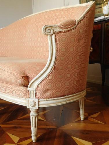 Seating  - Large set of Louis XVI seats - stamped JB Lelarge