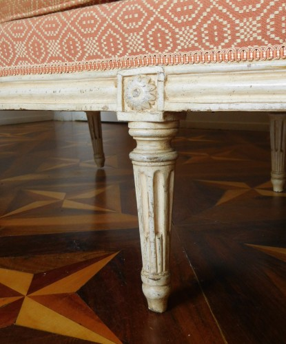 Large set of Louis XVI seats - stamped JB Lelarge  -