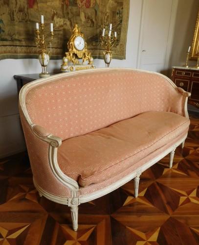 18th century - Large set of Louis XVI seats - stamped JB Lelarge