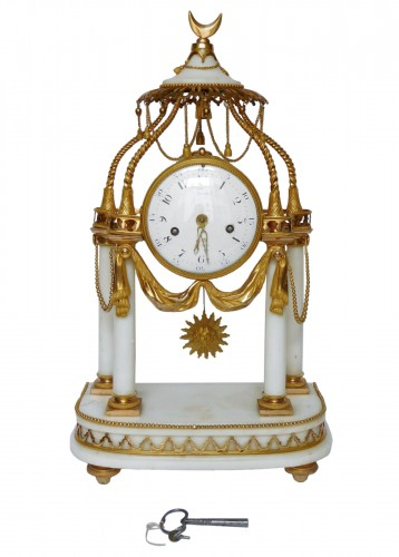 18th Century So-called A La Turque Clock By Furet - Louis XVI Period