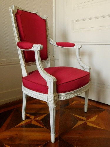Seating  - Henri Jacob - Louis XVI Cabriolet Armchair - Very Finely Carved And