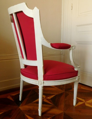 Henri Jacob - Louis XVI Cabriolet Armchair - Very Finely Carved And  -