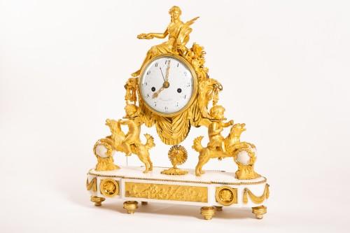 Large Louis XVI ormolu and marble clock, model of Prince Eugène (Malmaison) - Clocks Style Louis XVI