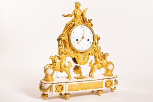 Clocks  - Large Louis XVI ormolu and marble clock, model of Prince Eugène (Malmaison)