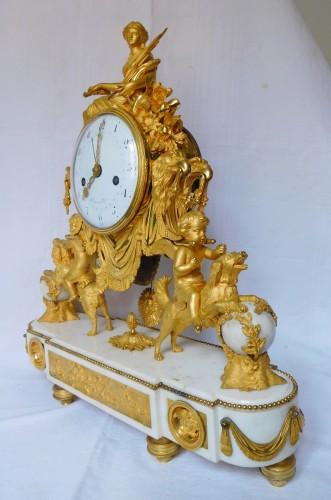 18th century - Large Louis XVI ormolu and marble clock, model of Prince Eugène (Malmaison)