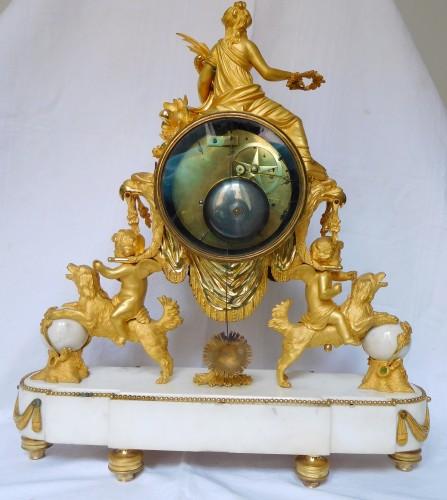Large Louis XVI ormolu and marble clock, model of Prince Eugène (Malmaison) - Louis XVI