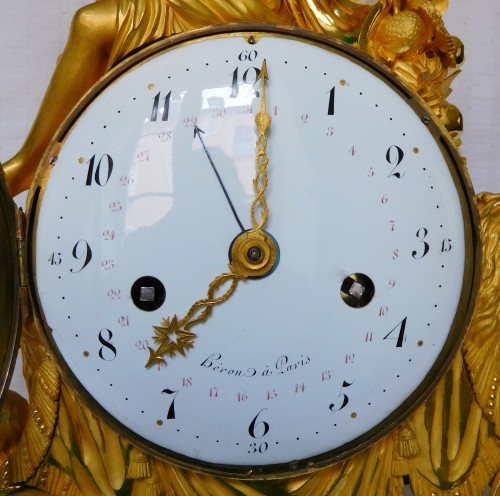 Louis XVI - Large Louis XVI ormolu and marble clock, model of Prince Eugène (Malmaison)