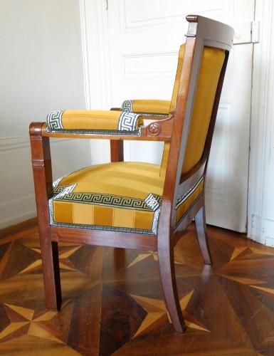 19th century - Empire period desk mahogany armchair