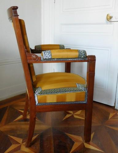 Empire - Empire period desk mahogany armchair