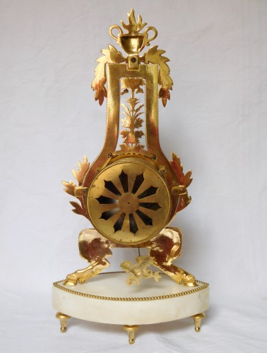 18th century - Lyre Ormolu And Marble Clock - Directoire Period Circa 1795-1800
