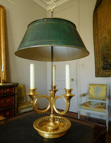 Louis XVI Period Ormolu Bouillotte Lamp - France, Late  18th Century - Lighting Style Directoire