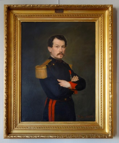 Large Pair Of 19th Century Portraits, Ch Poterin Du Motel (1815 - 1883) - Paintings & Drawings Style Napoléon III