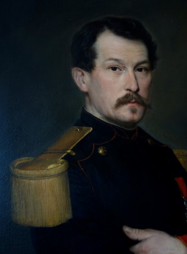 Large Pair Of 19th Century Portraits, Ch Poterin Du Motel (1815 - 1883) - Napoléon III