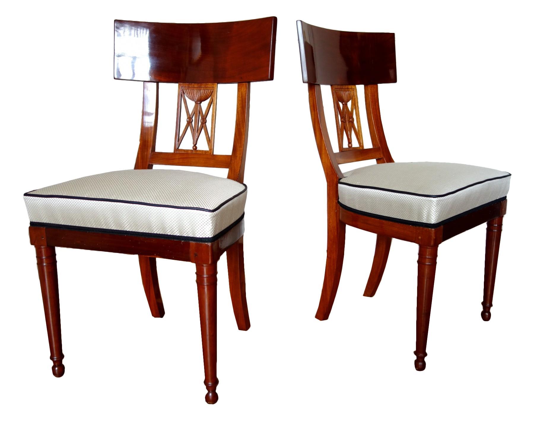 De Salle À Manger série de six chaises de salle à manger d'époque consulat