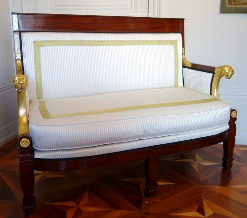 Consulate Period Mahogany 2 Seats Sofa Attributed To Demay - Seating Style Empire