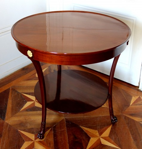 Mahogany so-called cabaret table, Consulate period, attributed to Molitor - Furniture Style Empire
