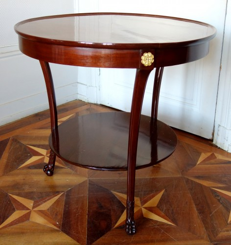 18th century - Mahogany so-called cabaret table, Consulate period, attributed to Molitor