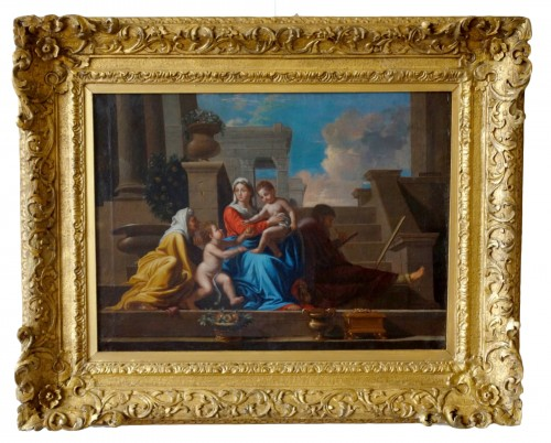 Holy Family after Nicolas Poussin, early 18th century French school
