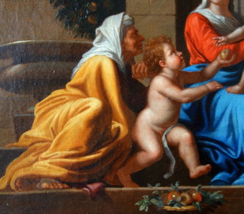 Paintings & Drawings  - Holy Family after Nicolas Poussin, early 18th century French school