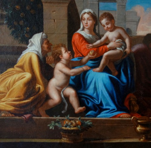 Holy Family after Nicolas Poussin, early 18th century French school -