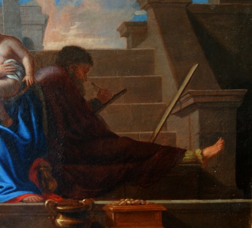 18th century - Holy Family after Nicolas Poussin, early 18th century French school