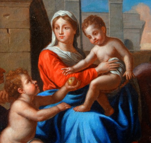 Louis XIV - Holy Family after Nicolas Poussin, early 18th century French school