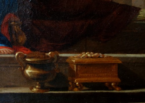 Antiquités - Holy Family after Nicolas Poussin, early 18th century French school