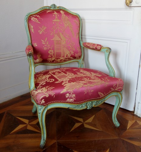Pair of Louis XV armchairs à la Reine - Sylvain Blanchard stamp - Seating Style Louis XV
