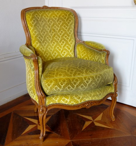 Louis XV Bergère attibuted to  Jean-Jacques Pothier - Seating Style Louis XV
