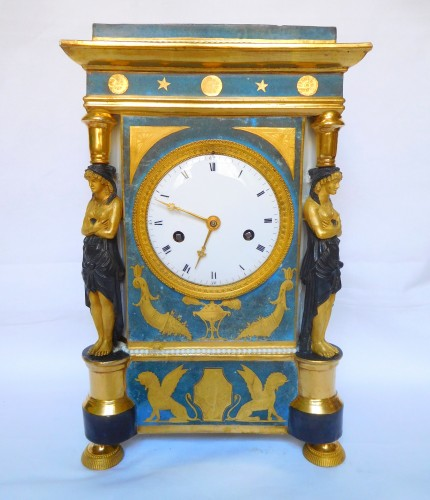 Porcelain Clock Circa 1800-1805 - Horology Style Empire