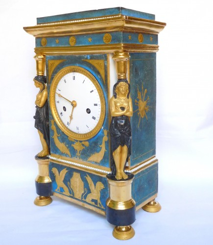 Horology  - Porcelain Clock Circa 1800-1805