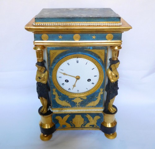 Porcelain Clock Circa 1800-1805 - Empire