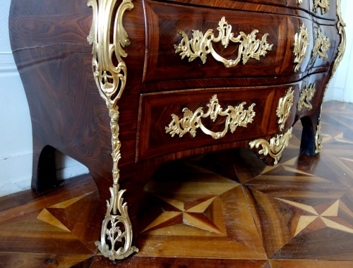 Regence Louis XV Violetwood Commode / Chest Of Drawers - IB Gautier stamped - Louis XV