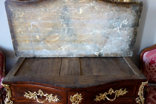 Antiquités - Regence Louis XV Violetwood Commode / Chest Of Drawers - IB Gautier stamped